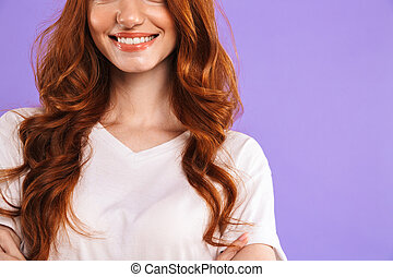 Cropped image of a smiling young girl