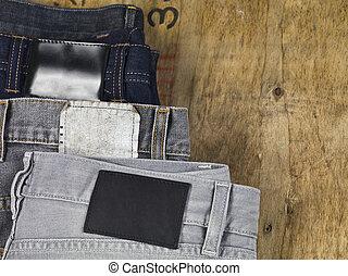 back of folded denim