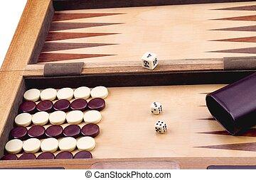 cropped image of backgammon