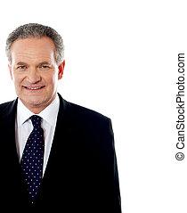 Cropped image of handsome senior businessman