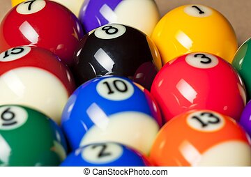 cropped image of pool balls