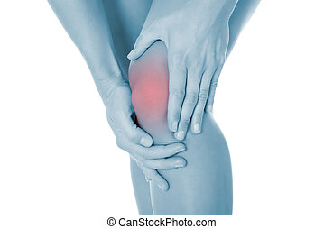 Cropped Image Of Woman Suffering From Knee Pain