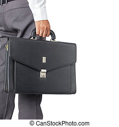 Cropped view of businessman holding a briefcase