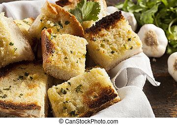 croquant, ail, fait maison, pain