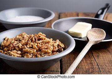 croquant, noix, ingrédients