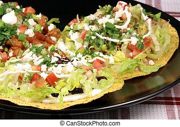 croquant, tostadas, mexicain