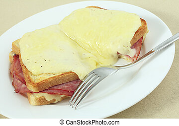 Croque monsieur at an angle