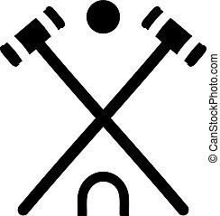 croquet, equipamento