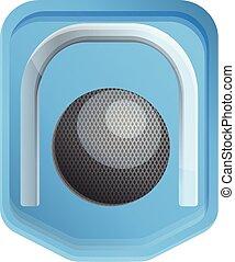 Croquet gate icon, cartoon style