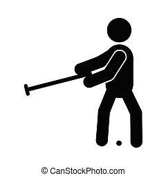 croquet, glyph, ícone
