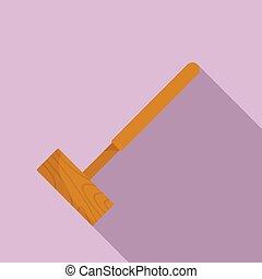 croquet, icona, stile, maglio, appartamento