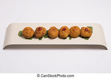 Croquette - Croquetas con jamon typical spanish meal