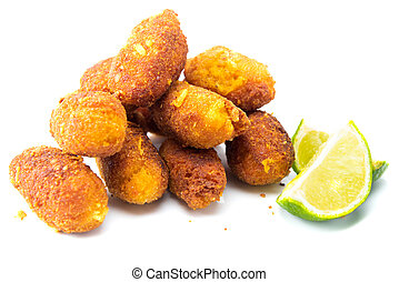 Croquette - Meat croquete on white background