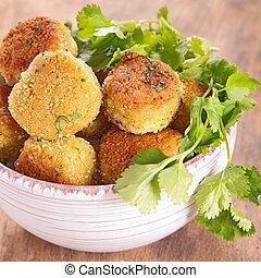 croquette, vegetable ball