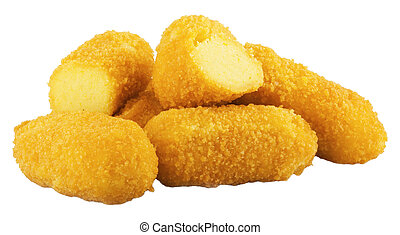 croquettes on the white background