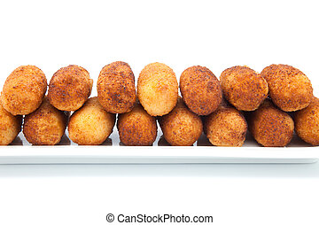 Croquettes stuffed with meat ready to eat