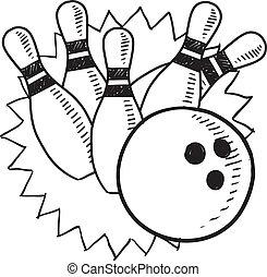 croquis, bowling