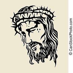 croquis, christ, jésus