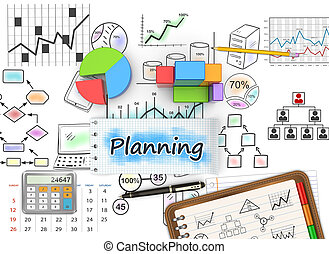 croquis, commercialisation, planification