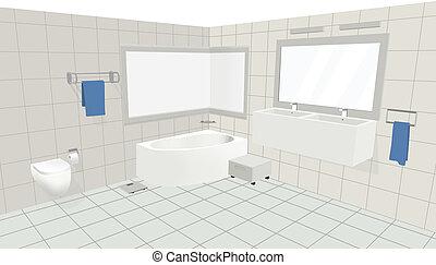 Int rieur croquis conception salle bains salle bains for Croquis de salle de bain