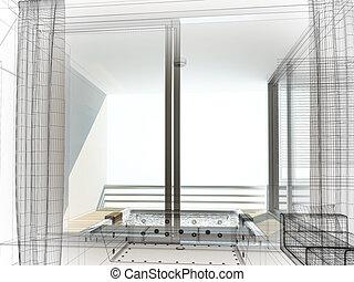 int rieur croquis conception salle bains salle bains int rieur croquis conception render. Black Bedroom Furniture Sets. Home Design Ideas