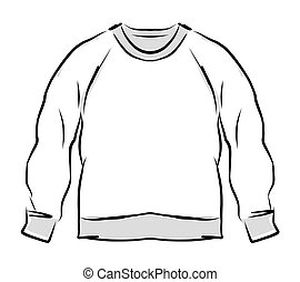 croquis, conception, résumé, sweatshirt, ton