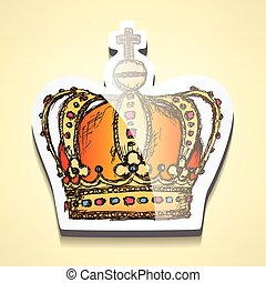 croquis, couronne, crosse