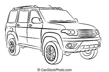 Vieux croquis voiture vecteur search clip art illustration drawings and eps graphics - Croquis voiture ...