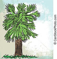 Croquis entiers feuille illustration monstera arbre - Croquis arbre ...