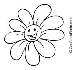 croquis, fleur