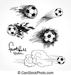 croquis, football