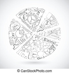 croquis, graphique circulaire