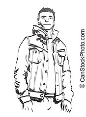 croquis, homme