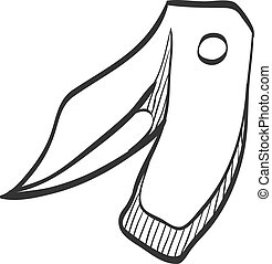 croquis, -, icône couteau