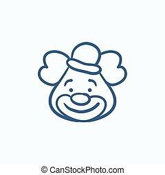 croquis, icon., clown