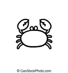 croquis, icon., crabe