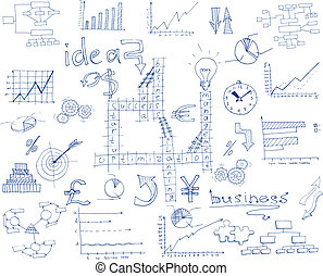 croquis, infographic, business