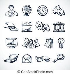 croquis, infographic, icônes