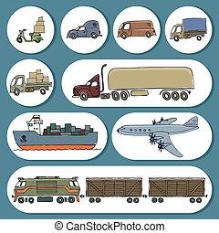 croquis, livraison, cargaison