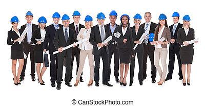 croquis mise point, groupe, architectes