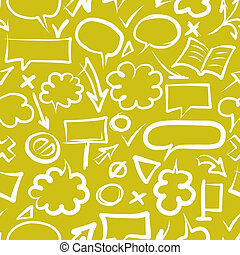 croquis, modèle, seamless, amd, conception, flèches, cadres, ton