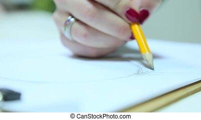 croquis, mode, dessine, concepteur