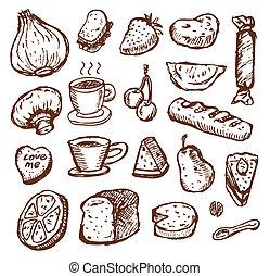 croquis, nourriture