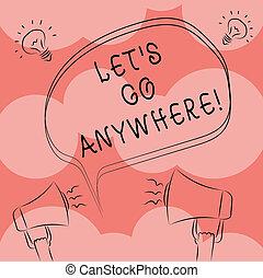 croquis, photo, idée, anywhere., aller, freehand, dehors, note, visite, écriture, étrangers, demander, parole, nouveau, porte voix, bulle, business, projection, laisser, démontrer, contour, endroits, s, showcasing, rencontrer, icon.
