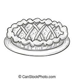 croquis, tarte