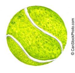 croquis,  tennis, balle