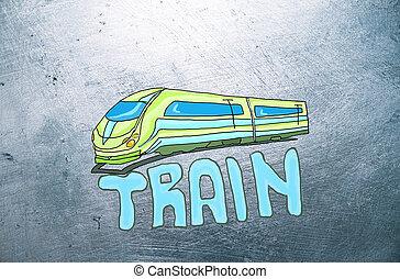 croquis,  train