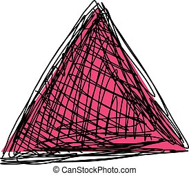 croquis, triangle