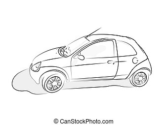 Voiture croquis ic ne toile croquis mobile voiture - Croquis voiture ...