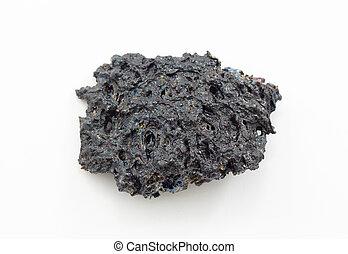 croseup shot of cold lava
